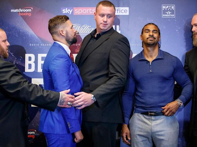 Haye questioned Bellew's motivation for the fight (Getty)