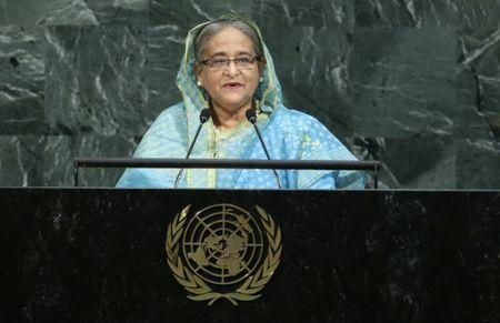 Bangladeshi Prime Minister Hasina addresses the 72nd United Nations General Assembly at U.N. headquarters in New York