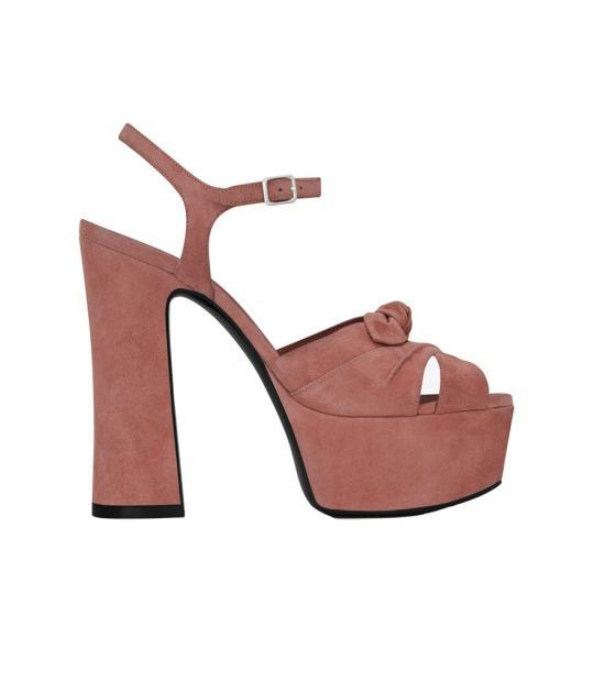 """<p>Candy 80 bow sandal in dark pink, $895, <a href=""""http://www.ysl.com/us/shop-product/women/shoes-candy-candy-80-bow-sandal-in-dark-pink-suede_cod44984067kr.html#section=women_shoes"""" rel=""""nofollow noopener"""" target=""""_blank"""" data-ylk=""""slk:YSL.com"""" class=""""link rapid-noclick-resp"""">YSL.com</a></p>"""