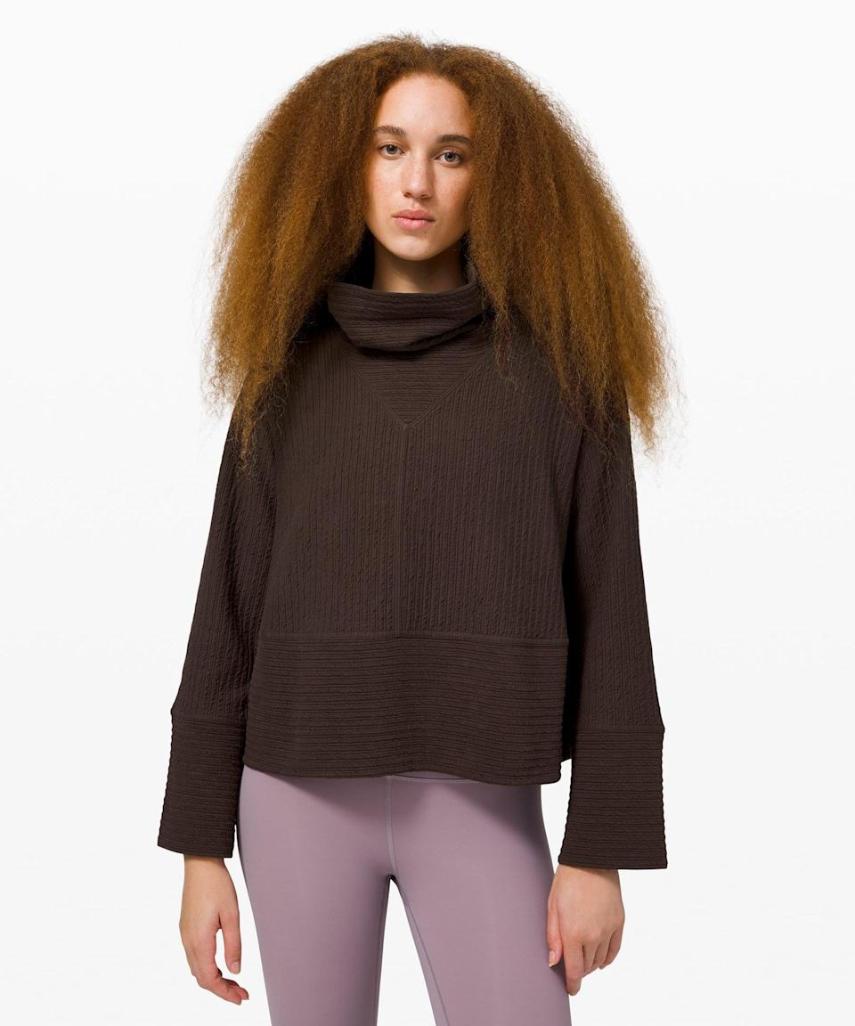 <p>Get cozy in this <span>Lululemon Retreat Yourself Pullover</span> ($99, originally $138).</p>