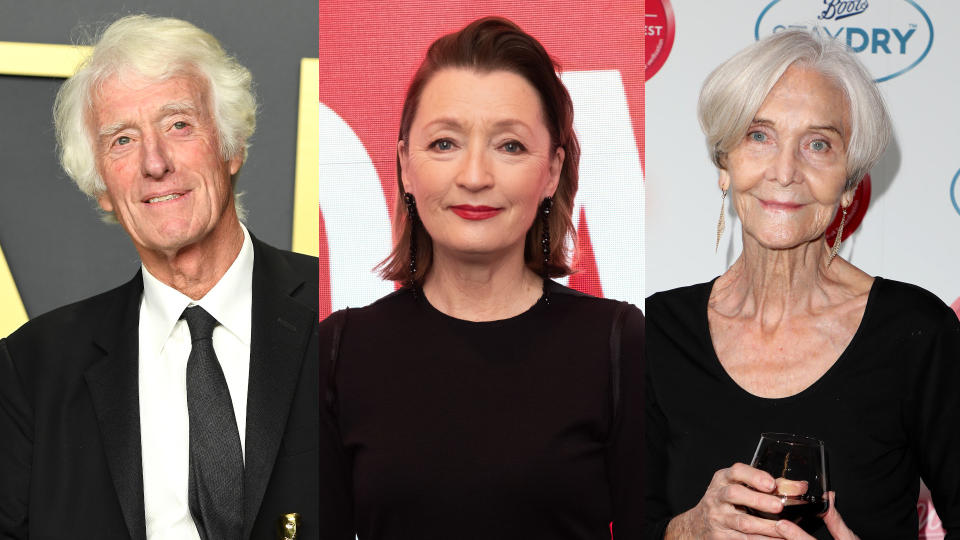 Roger Deakins, Lesley Manville and Sheila Hancock all feature in the New Year Honours List for 2021. (Credit: Steve Granitz/WireImage/Noam Galai/Lia Toby/Boots Staydry/Getty Images)
