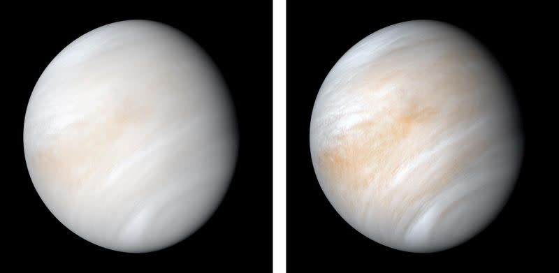 FILE PHOTO: The planet Venus is seen in this photograph taken by NASA's Mariner 10 spacecraft