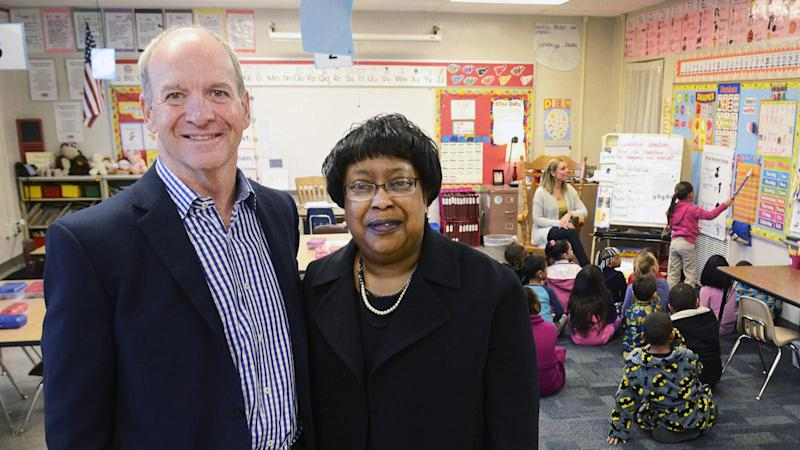 Mark GiaQuinta, former president of the FWCS board, and Wendy Robinson, superintendent of FWCS, are united in their concern that voucher schools are undermining true integration. (Cathie Rowand/The Journal Gazette)