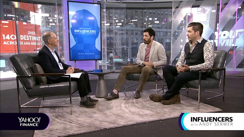 Drew and Jonathan Scott, twin brothers and co-hosts of Property Brothers, appear on Influencers with Andy Serwer