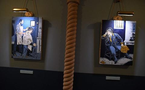 The secular temple devoted to the Irish wit and playwright is crammed with devotional style religious art to honour the trailblazer of gay rights - Credit: AFP