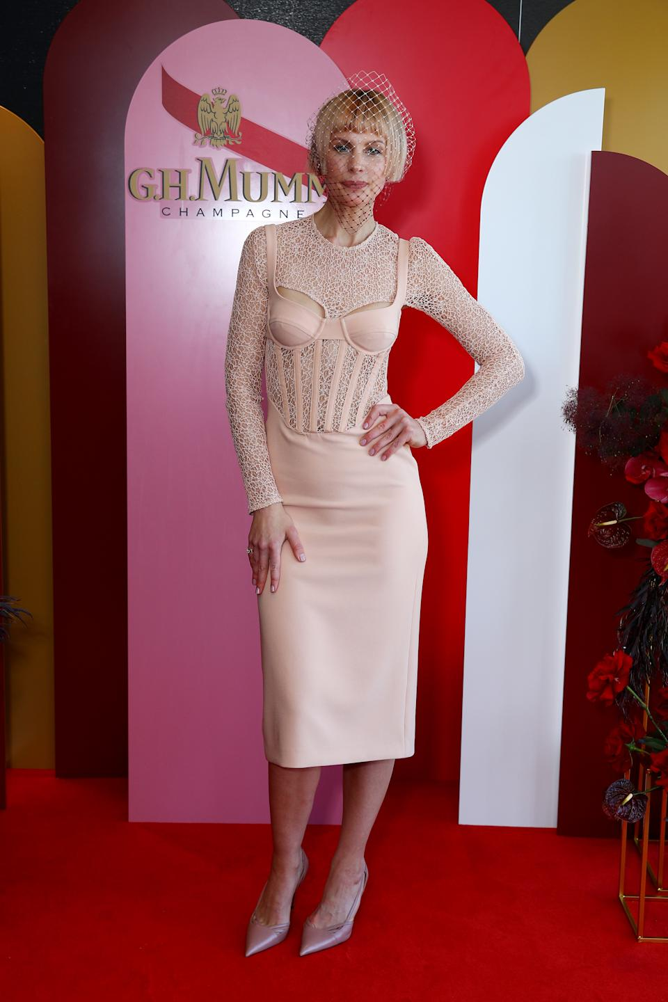 Kate Peck attends the G.H. Mumm Melbourne Cup Carnival celebrations on November 03, 2020 in Sydney, Australia.