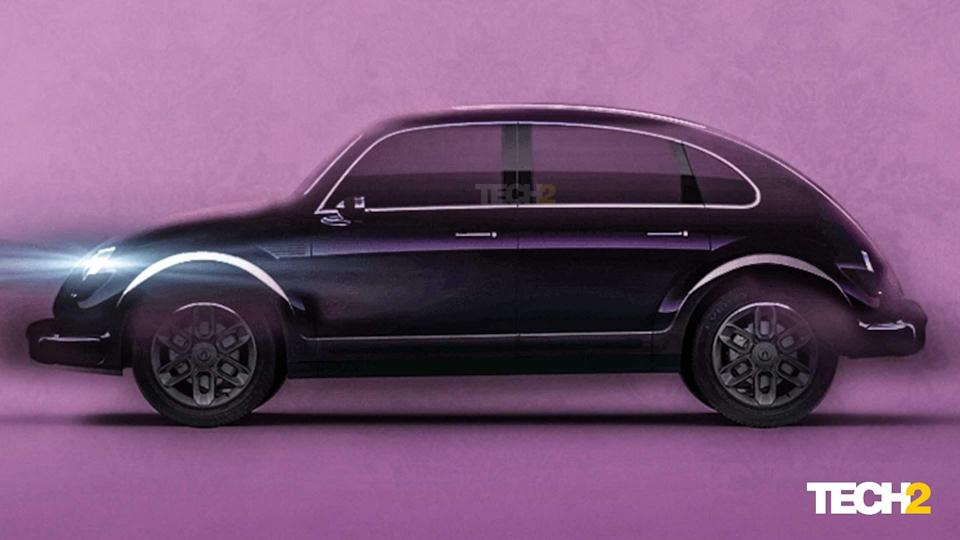 There's no hiding from the fact that ORA's new EV is a modern-day take on the original Volkswagen Beetle. Image: ORA