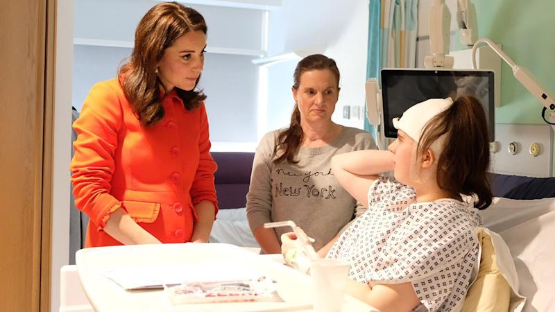 Pregnant Kate Middleton Channels Princess Diana Visiting Sick Children in the Hospital: Pics!