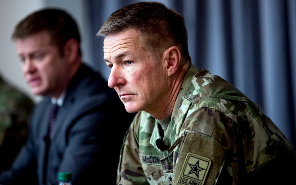 General James McConville, Army chief of staff, - AP