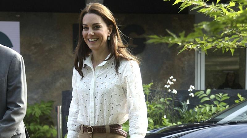 Kate Middleton Ditches Her Heels for Sneakers to Play in a Tree House at Chelsea Flower Show