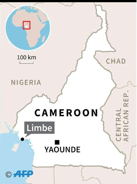 Map locating Limbe in Cameroon, where eight sailors were kidnapped on December 31 in an attack on a Greek oil tanker (AFP Photo/)