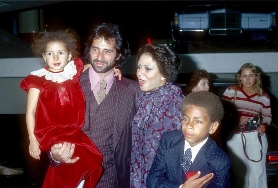 <p>Singer Minnie Riperton and her husband Richard Rudolph attend a Christmas parade in Los Angeles with their children. Yep, that's a baby Maya Rudolph. </p>