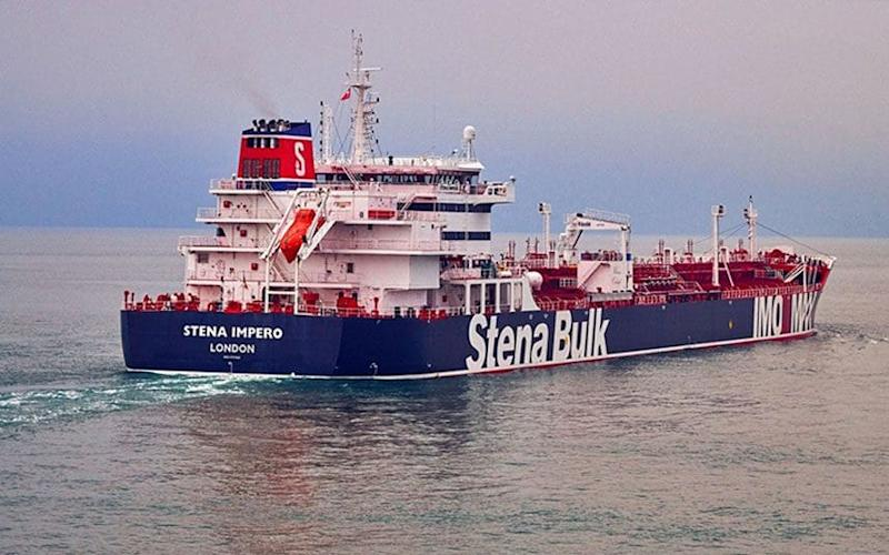 The British flagged 'Stena Impero' has taken a very sudden turn into Iranian waters despite her original destination being Saudi Arabia, according to data relayed by maritime tracking service - Stena