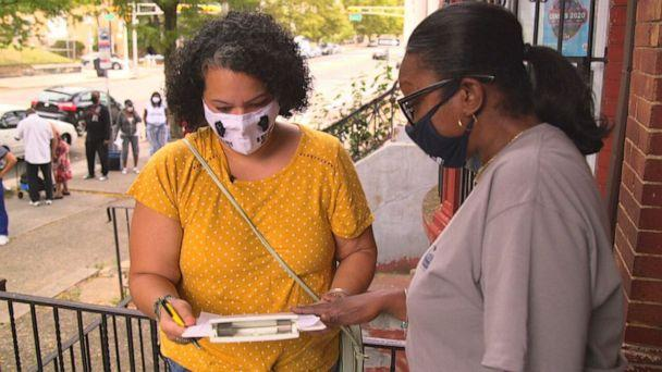 PHOTO: Four months after being approved for SNAP, formerly known as food stamps, Espaillat said she is still waiting to receive her SNAP card. She said she finds the help she needs at St. James Social Services in downtown Newark, New Jersey.  (ABC)