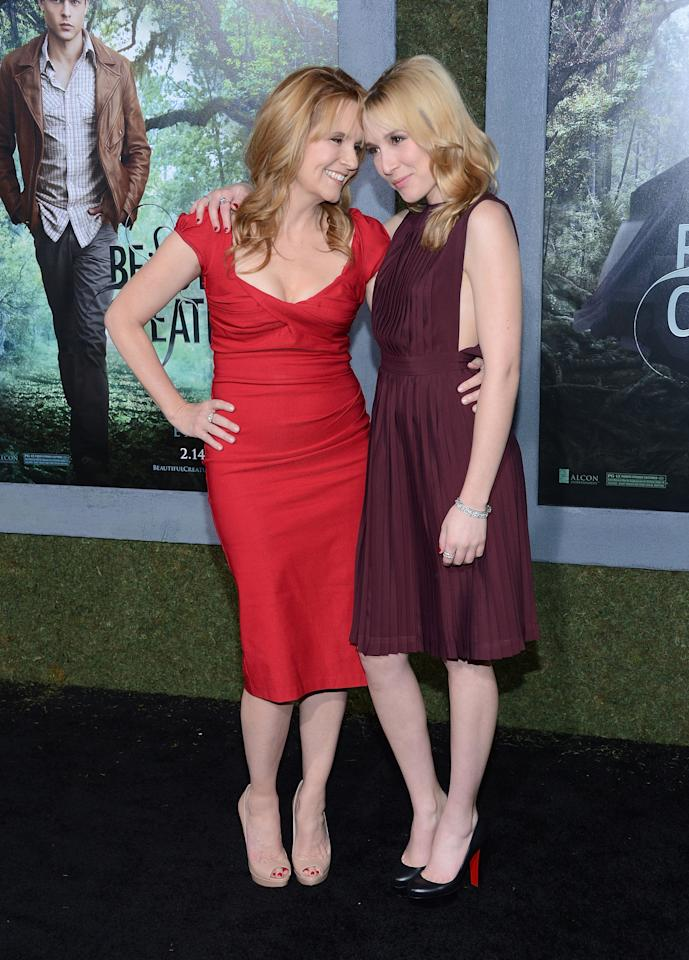 """HOLLYWOOD, CA - FEBRUARY 06:  Actress Lea Thompson and Madelyn Deutch attend the premiere of Warner Bros. Pictures' """"Beautiful Creatures"""" at TCL Chinese Theatre on February 6, 2013 in Hollywood, California.  (Photo by Jason Kempin/Getty Images)"""