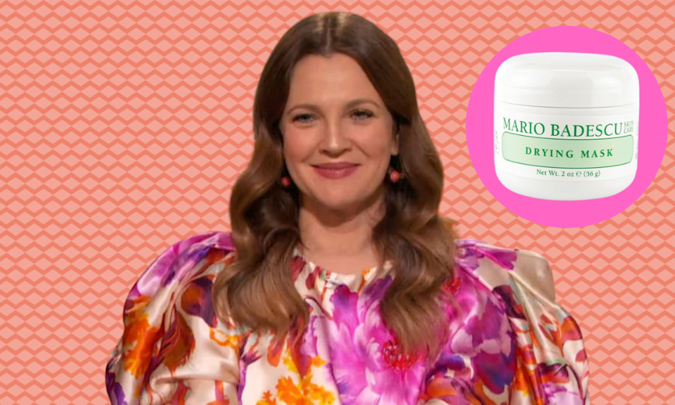 Drew Barrymore shrinks her pores with the help of a $16.50 cream. (Photo: Getty Images)