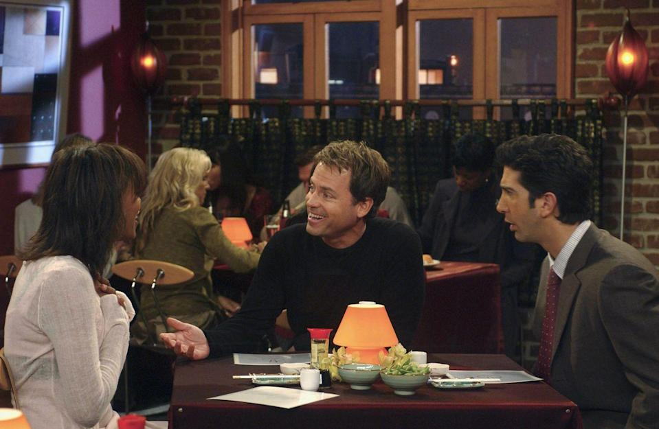 "<p>Greg Kinnear appeared on the show for one episode as Benjamin Hobart, the ex-boyfriend of reoccurring guest star, Aisha Tyler. In the episode ""The One with Ross' Grant,"" the actor enters the scene and complicates things between Ross and Charlie.</p>"