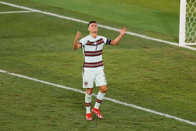 Ronaldo reacts in frustration as Portugal's reign comes to an end