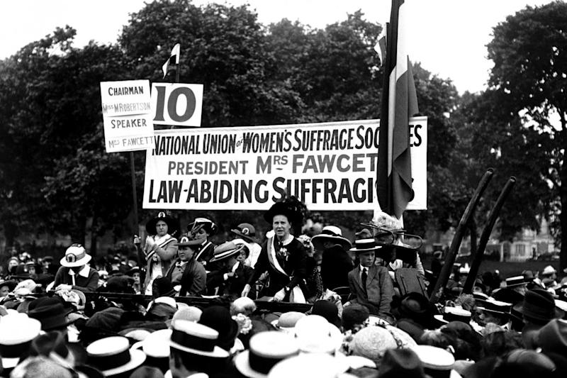 Honour: Millicent Fawcett, who founded the National Union of Women's Suffrage (PA Archive/PA Images)