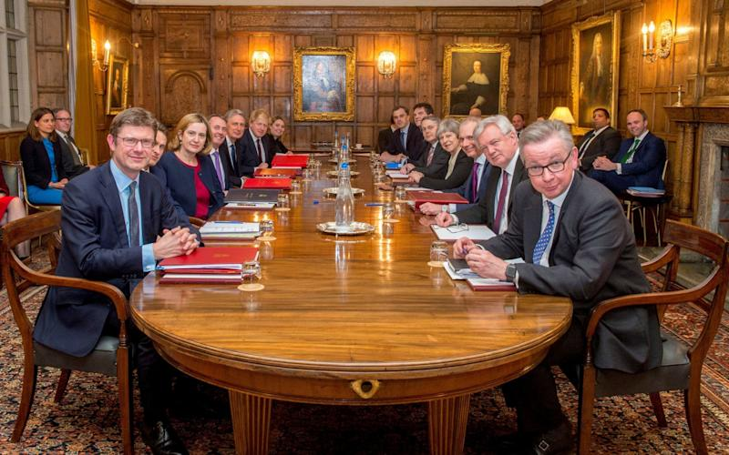 The Cabinet at Chequers - PA