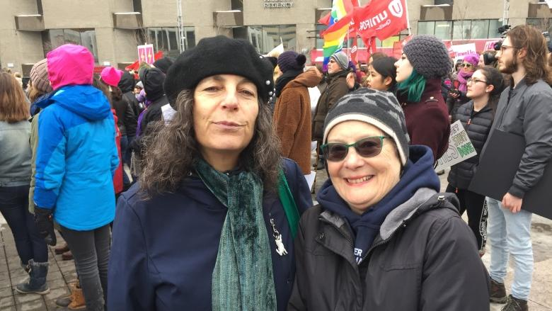 Montreal women's rally demands feminism be inclusive