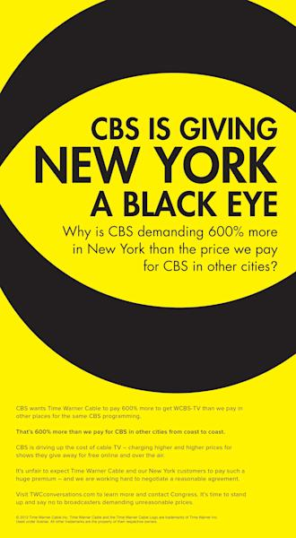 CBS's Standoff With Time Warner Cable Heats Up; Blackouts Could Happen Next Week