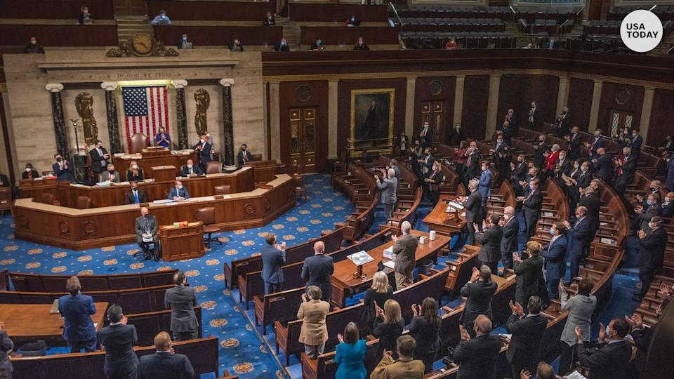 Congress reconvened late in the day on Jan. 6.