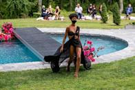 """<p>From audience-free presentations to masked-up models, <a href=""""https://people.com/style/new-york-fashion-week-photos-september-2020/"""" rel=""""nofollow noopener"""" target=""""_blank"""" data-ylk=""""slk:designers reinterpreted what fashion week means"""" class=""""link rapid-noclick-resp"""">designers reinterpreted what fashion week means</a> in the COVID-19 era at New York Fashion Week. <a href=""""https://people.com/style/christian-siriano-predicts-emmys-fashion-trends/"""" rel=""""nofollow noopener"""" target=""""_blank"""" data-ylk=""""slk:Christian Siriano transformed the backyard of his Westport, Connecticut home"""" class=""""link rapid-noclick-resp"""">Christian Siriano transformed the backyard of his Westport, Connecticut home</a> into a socially distanced Spring 2021 runway. </p>"""