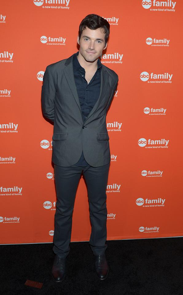 "Ian Harding (""Pretty Little Liars"") arrives at ABC Family's West Coast Upfronts at The Sayers Club on May 1, 2012 in Hollywood, California."