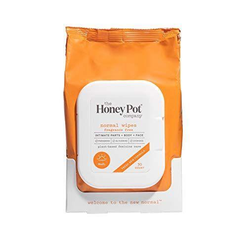 """<p><strong>The Honey Pot Company</strong></p><p>amazon.com</p><p><strong>$7.67</strong></p><p><a href=""""https://www.amazon.com/dp/B078JGFMNP?tag=syn-yahoo-20&ascsubtag=%5Bartid%7C10051.g.36742284%5Bsrc%7Cyahoo-us"""" rel=""""nofollow noopener"""" target=""""_blank"""" data-ylk=""""slk:Shop Now"""" class=""""link rapid-noclick-resp"""">Shop Now</a></p><p>Plant-based feminine wipes that are not only fragrance-free but also under $10? Yes, yes, yes! </p>"""