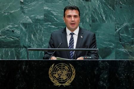 FILE PHOTO: Macedonian Prime Minister Zaev addresses the 74th session of the United Nations General Assembly at U.N. headquarters in New York City, New York, U.S.