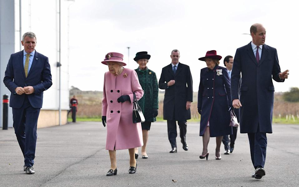 The Queen has been joined by the Duke of Cambridge at Porton Down - BEN STANSALL/POOL/AFP via Getty Images