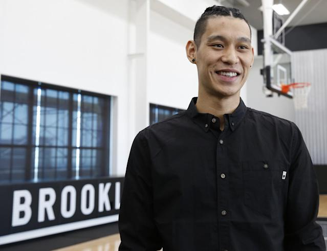 """Five years after """"Linsanity,"""" Jeremy Lin is at home in New York. (Getty Images)"""