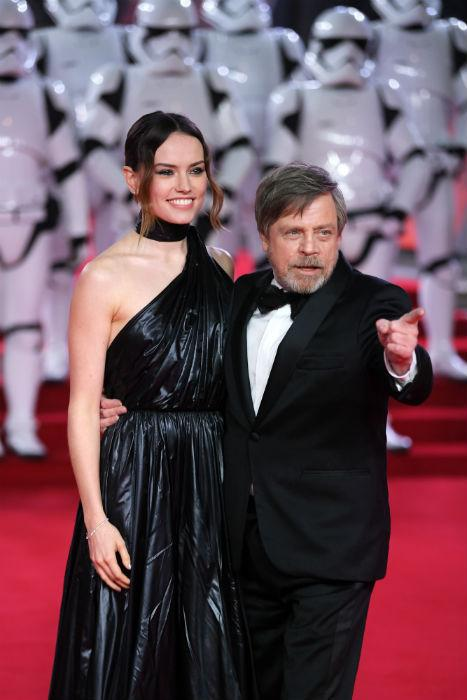 Star Wars Premiere: Daisy Ridley and Mark Hamill