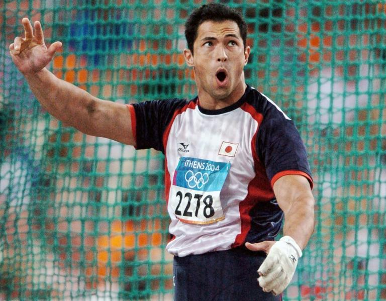 Koji Murofushi, who is half-Romanian, captured hammer gold for Japan at the 2004 Athens Olympics