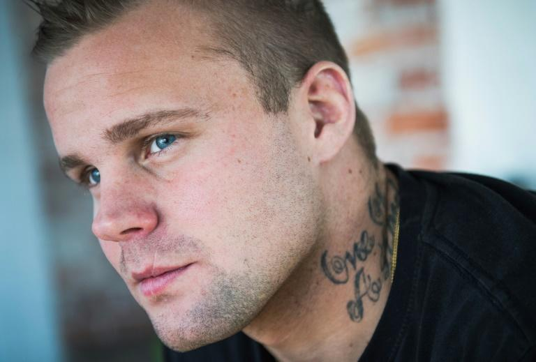 Former neo-Nazi and drug addict Kimmie Ahlen has a new mission -- teaching tolerance to young Swedes