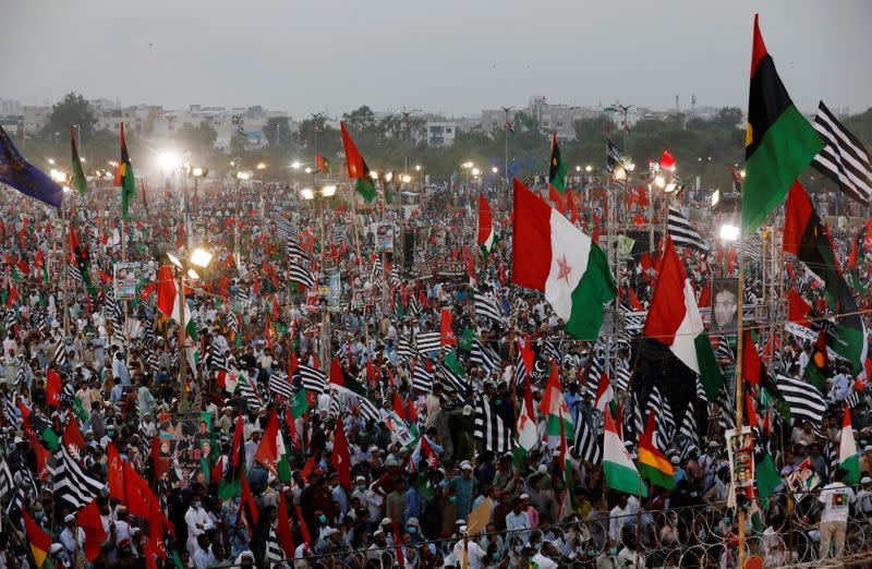 Anti-government protest rally in Karachi