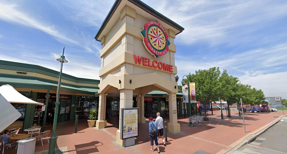 Pictured is Carnes Hill Marketplace in Sydney where the winning Powerball ticket was sold.