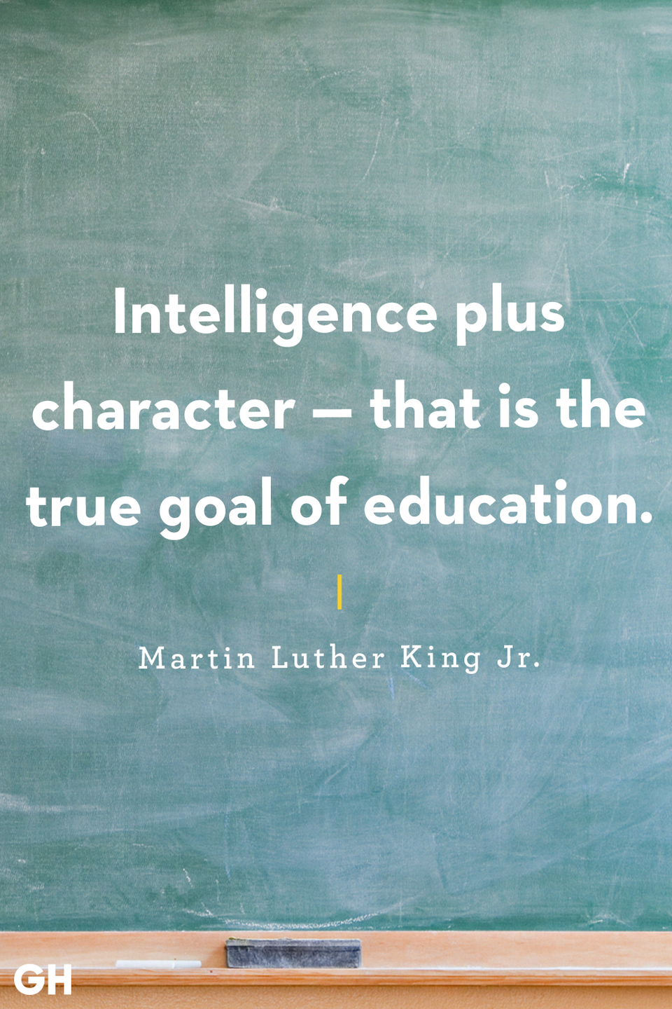 <p>Intelligence plus character — that is the true goal of education.</p>