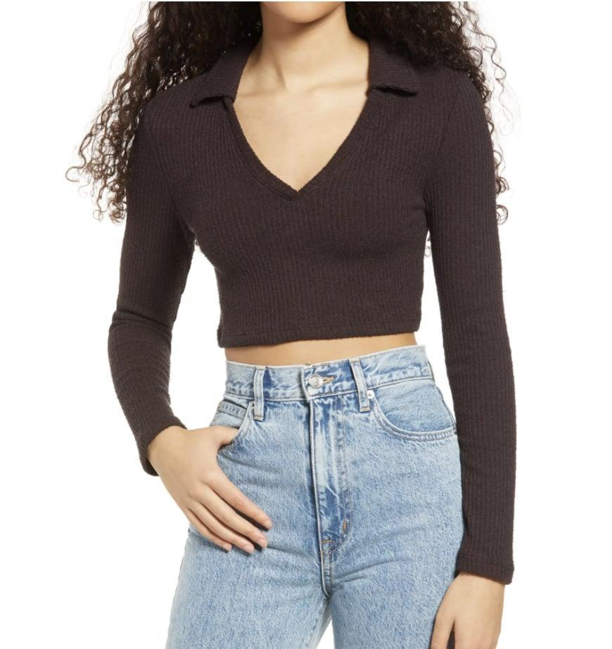 <p>This <span>Topshop Ribbed Crop Top</span> ($38) is up for any social (or solo) occasion.</p>