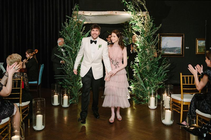 """For our recessional, a classical trio from Hire Juilliard Performers performed a beautiful cover of """"Beginnings"""" by Chicago. """"Beginnings"""" because the ceremony had ended, but the wedding itself was the beginning of our lives as a married couple."""