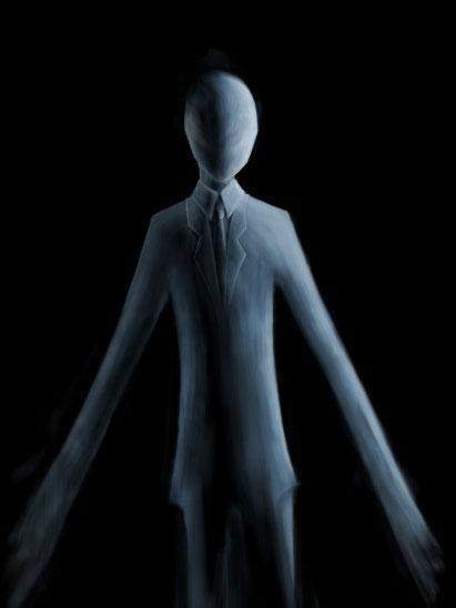 An artist's depiction of Slender Man, a fictional monster which began as an online meme (LuxAmber/Creative Commons)