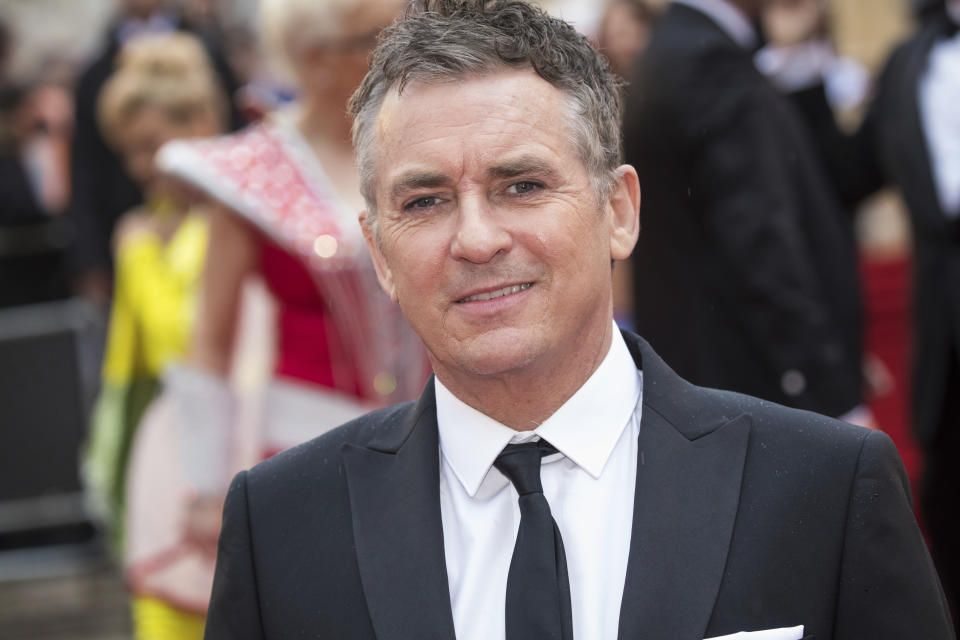 Shane Richie poses for photographers upon arrival at the Olivier Awards in London, Sunday, Apr. 7, 2019. (Photo by Vianney Le Caer/Invision/AP)