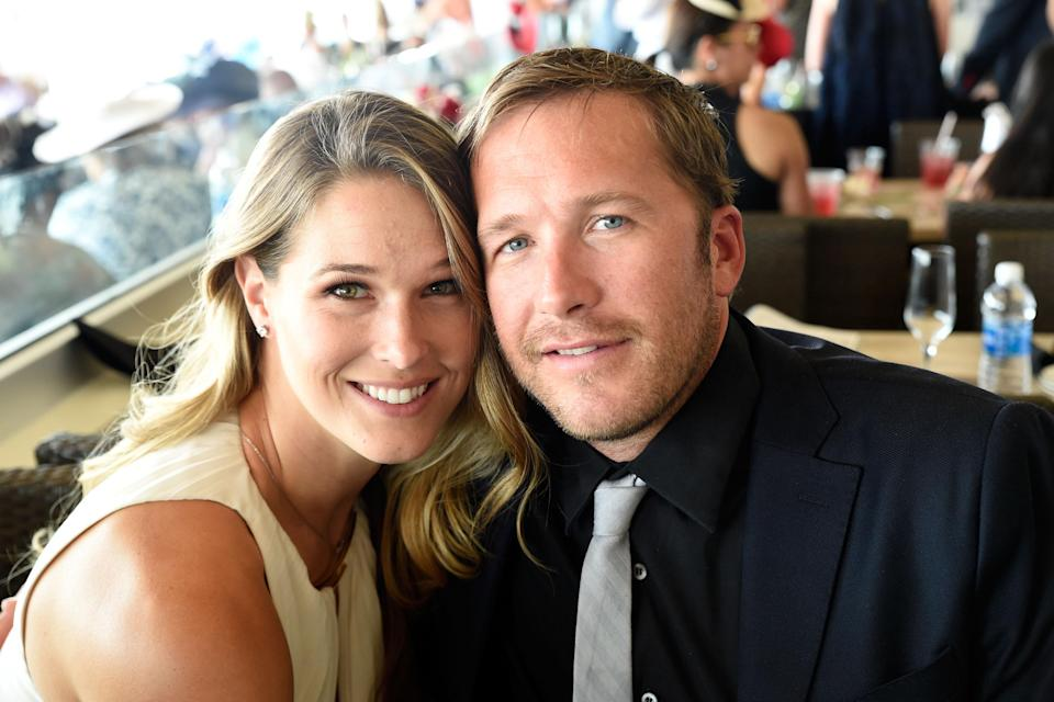 Morgan and Bode Miller, at the Kentucky Derby in 2016, are opening up about the death of their daughter, who drowned in June. (Photo: Getty Images)