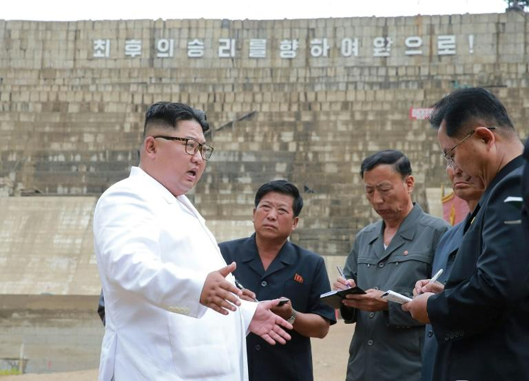 """At the Orangchon power station, which is still only 70 percent complete, North Korean leader Kim Jong Un said he was """"so appalled as to be left speechless"""", according to the North's official news agency KCNA"""