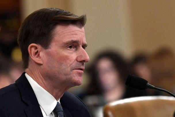 PHOTO: State Department official David Hale testifies before the House Intelligence Committee on Capitol Hill in Washington, Nov. 20, 2019. (Susan Walsh/AP, FILE)