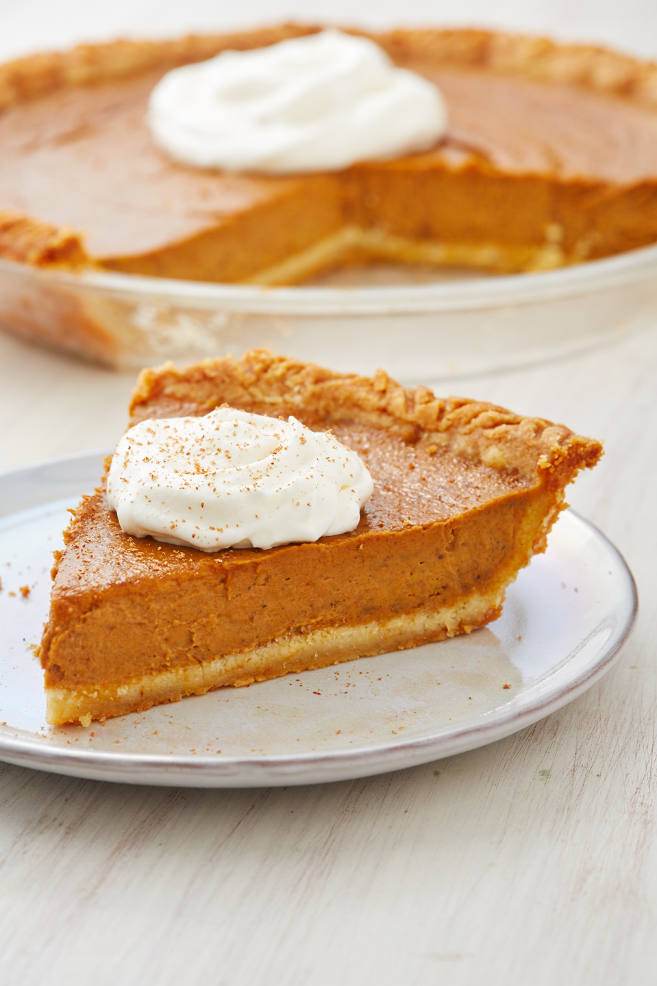 "<p>Low-carb doesn't have to mean low-quality. Just sayin'. </p><p>Get the recipe from <a href=""https://www.delish.com/holiday-recipes/thanksgiving/a28495185/keto-pumpkin-pie-recipe/"" rel=""nofollow noopener"" target=""_blank"" data-ylk=""slk:Delish"" class=""link rapid-noclick-resp"">Delish</a>. </p>"