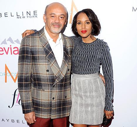 Christian Louboutin and Kerry Washington arrive at The Daily Front Row's Fashion Los Angeles Awards on Jan. 22.