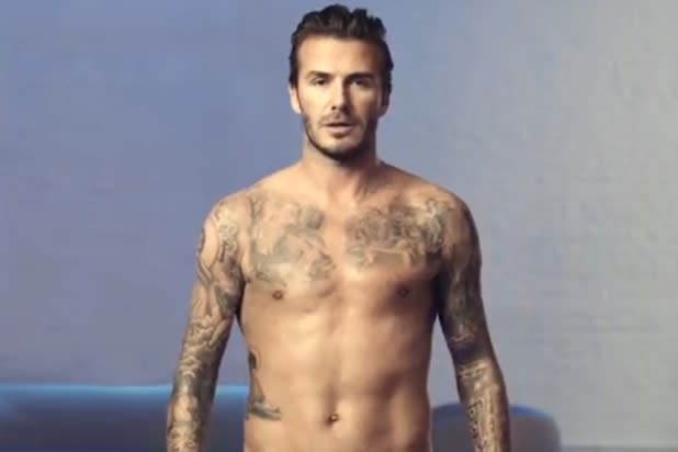 Super Bowl: David Beckham Strips Down for H&M (Video)