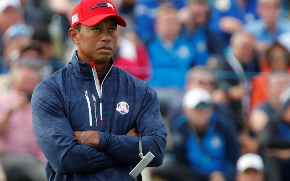Team USA's Tiger Woods looks dejected in 2018 - Reuters